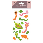 Sticko Classic Stickers Worms Glitter SP-LFB31