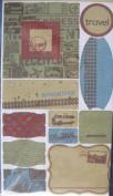 Travel Flocked Ephemera Stickers // Making Memories