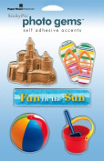 Paper House Productions - Fun Beach Collection - Epoxy Stickers - Fun Beach