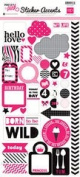 Echo Park Pretty in Pink Mini Theme Sticker