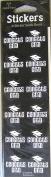 Black Graduation Mortor Board Stickers 48 Count