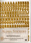 Alpha Stickers Gold