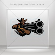 Decals Sticker Cowboy with a Shotguns car helmet window bike Garage door 0500 XZZ47