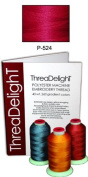 1 cone of ThreaDeligh Polyester Embroidery Thread - Raspberry P524 - 1100 yards - 40wt