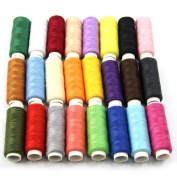 Estone New 24 Spools Mixed Colours Polyester All Purpose Sewing Threads Cones Set Hot