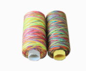 2 Spools Colourized Polyester Sewing Thread 150 Yards Each