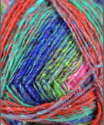 Silk Garden Sock by Noro - #S87 Turquoise, Pink, Yellow