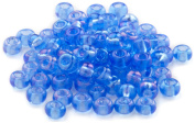 Beaders Paradise LT6E74 Czech Glass Sapphire A.B. 6/0 E-Beads in a Tube