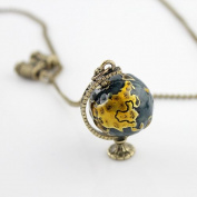 Hot Selling Vintage Globe Handmade Chains Pendant Necklaces