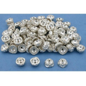 Bali End Bead Caps Silver Plated Parts 9.5mm Approx 100