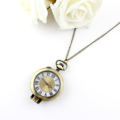 Elegant New Style Designer Jewellery Steam Punk Style Cute Number Pendant Watch with Chain