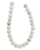 Tennessee Crafts 1428 Semi Precious White Howlite Round Beads, 8mm