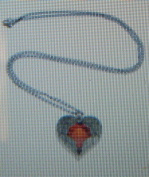 Angel Wing Red Heart Antique Gold Coloured Necklace + FREE GIFT BAG