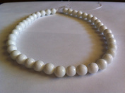 White agate faceted round beads, 10mm, sold per 16-inch strand.