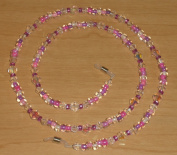 Cupid's Passion Crystal AB Czech Glass Bead Mix Eyeglass Chain