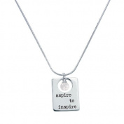 Alexa's Angels 3-Word Pearl Necklace Aspire to Inspire