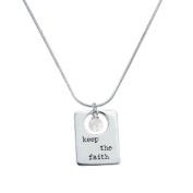 Alexa's Angels 3-Word Pearl Necklace Keep the Faith