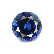 Blue Round Sapphire Loose Unset Gemstone 8mm (Qty=1) Lab