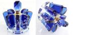 2014. New Fashion Car Air Freshener Blue Crown Clear Crystal Perfume Bottle Empty