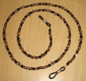 Preciosa Capri Gold / Black Crystal Copper Dragonfly Bead Mix Eyeglass Chain