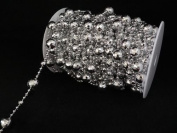 60 ft Disco Ball Faux Crystal Beads by the spool - 2 colours