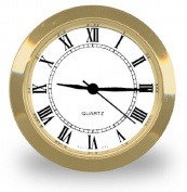 Clock Insert In Popular 2.5cm - 1.1cm Size Has a Quality Metal Case, Roman Dial and Glass Crystal