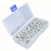 BEADNOVA Natural White Howlite Gemstone Round Loose Beads with Bead Organiser Carry Case for Jewellery Making