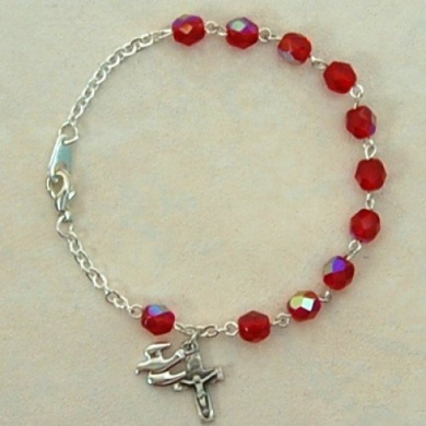 Ss 6Mm Red Holy Spirit Bracelt
