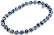 Jilzara Necklace - Medium Silverball - Navy - New Clay Artisan Bead 501-009