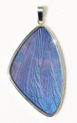 Blue Morpho Butterfly Wing XL Pendant