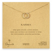 Dogeared Unisex Triple Karma Ring Necklace 46cm Mixed Metal