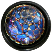 Diamond Head Upholstery Tack Crystal Stone, Cosmic Bubble Lustre Stone in Black Setting
