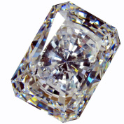 """CUBIC ZIRCONIA (LOOSE STONE CUBICZIRCONIA) WHITE colour EMERALD SHAPE/ ROUND CUTTING CLEAR CZ 16.0 X 12.0 MM (13.00 CTS DIAMOND WEIGHT) SUPER & SUPER QUALITY .NOT """" AAA """" or """" AAAAA """" QUALITY"""