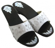 Bath Slippers with Mother of Pearl Inlaying