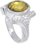 Kameleon CZ Shank Ring Size 8 * Jewelpop Authentic Silver New KR04size8