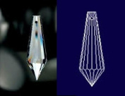 """Icicle Drop 30% Lead Crystal 38mm - 1.5"""" Inch #432-38 Box of 480pc"""