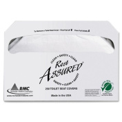 Wholesale CASE of 5 - Rochester Midland Toilet Seat Covers-Toilet Seat Covers, 250 EA/PK, 20 Packs/CT, White