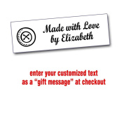 Iron On Labels for Crafters with Button Motif