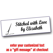 Iron On Labels for Crafters with Needle Motif