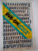 Quik Stik, 765, Rub-On, Dry Transfer, Letters & Numbers, 1.9cm , (72 Pt), Italic, Black, Made in USA