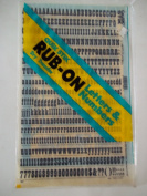 Quik Stik, 692, Rub-On, Dry Transfer, Letters & Numbers, 1.3cm , (48 Pt), Playbill, Black, Made in USA