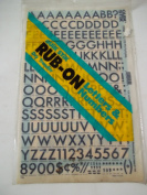 Quik Stik, 774, Rub-On, Dry Transfer, Letters & Numbers, 0.6cm , (72 Pt), Futura, Black, Made in USA