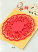 Coaster Cup Lace Pattern round Vintage style Decorative Silicone Pad-6 coulors to choose from