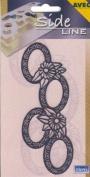 Ecstasy Crafts Sideline Stencil - Ovals And Daisies