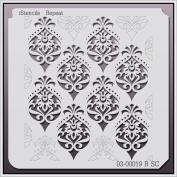 iStencils Repeat Wall Stencil 93-00019 R SC 20cm X 20cm