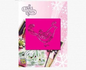 Ecstasy Crafts Lines & Dots Stencil -Bird