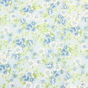 "Decopatch Decoupage Paper Mache ""Light Blue Flowers Roses Green 1450cm"