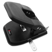 Skilcraft Heavy-duty 2-hole Paper Punch - 2 Punch Head[s] - 30 Sheet Capacity - 9/32 - Black