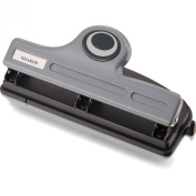 Officemate Contemporary Medium Duty 3-Hole Eco-Punch, 20-Sheet Capacity, Recycled/Antimicrobial, Black/Grey/Green