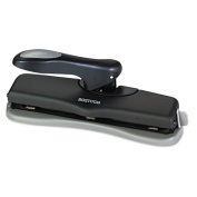 20-Sheet Desktop Two- and Three-Hole Adjustable Punch, 0.7cm Holes, Black